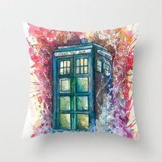 #DoctorWho Tardis Throw Pillow by Jessi Adrignola!  Starting from 15 dollar each!