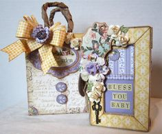 Paperiah: Graphic 45 Secret Garden New Baby Gift