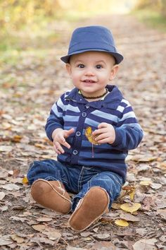 Baby boy fall picture