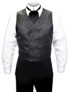 Bancroft Double Breasted Vest - Black [002434]    I want this vest for a wedding I am going to.