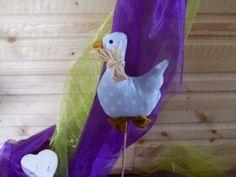 Blumenstecker Gans von LaLenA`S Lädchen auf DaWanda.com