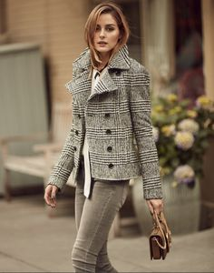Olivia's plaid Banana Republic jacket is the fall piece we'll wear over and over again.