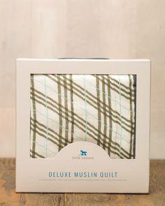 Pendleton Plaid Deluxe Muslin Quilt - Spearmint LOVE
