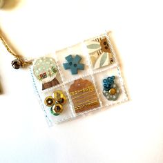 Snowglobe Mini Pocket Letter Charm by Jackie Benedict ~ A Mini Charm