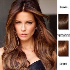 Top 2 Celebrity Sombré Hair Colors 2014 Spring: Dark Brown  Kate Beckinsale brunette caremal ombre highlights styles