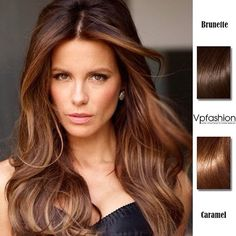 Top 2 Celebrity Sombré Hair Colors 2014 Spring: Dark Brown Kate Beckinsale brunette caremal ombre highlights styles