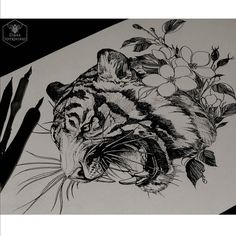 #artwork #sketch #blacktattooart #onlyblackart #drawing #tiger #blackndark #darkartists