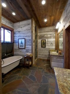 rustic bathroom @Wendy Felts Felts Carter