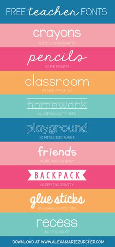 Back to school, back to school! I recently came across a few darling fonts that I think would be PERFECT for teachers. I'm a huge fan of ...