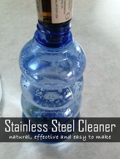 A homemade natural solution for a smudge-free stainless steel cleaning experience | DIY appliance cleaner | Super easy and very effective | All natural | Budget friendly