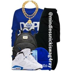 Dope Blue., created by mindlessnickiswag4ray on Polyvore