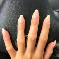 What manicure for what kind of nails? - My Nails Natural Looking Acrylic Nails, Classy Acrylic Nails, Natural Nails, Classy Nails, Gel Nails French, Clear Gel Nails, Shellac Nails, Manicure, Squoval Acrylic Nails