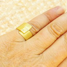 18K solid gold  ring Diamond Ring 4 Diamonds 18K by RuthaJewelry, $925.00