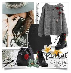 """ROMWE II/2"" by creativity30 ❤ liked on Polyvore featuring romwe"