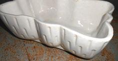 Vintage Planter Ceramic UPCO White by TheBackShak on Etsy