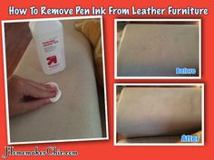 How To Remove Ink From Leather Furniture All You Need Is Alcohol And Cotton Pads