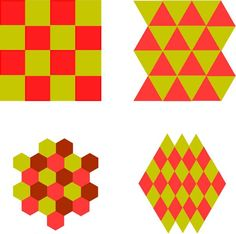 """Tessellations.  Jinny Beyer.  The first question is """"What is a tessellation?"""" A tessellation is any shape that can be repeated over and over to fill a surface without gaps or overlaps.  Squares, triangles, hexagons, and diamonds are all tessellations because they can fill a surface without gaps."""