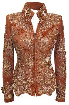 Pretty showmanship rust really like neckline & top of this style
