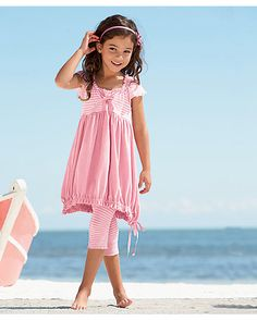 girls bubbly pink dress set