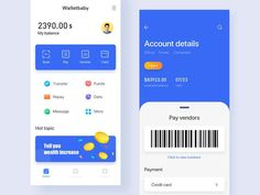 This is a wallet payment page design. designed by Cream. Connect with them on Dribbble; the global community for designers and creative professionals. Ui Design Mobile, App Ui Design, User Interface Design, Page Design, Wireframe Design, Design Layouts, Flat Design, Card Ui, Ui Web