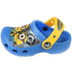 Crocs Cc Minions Clog Toddler 201311-4FZ Blue Yellow Clogs Shoes Baby Size 6/7