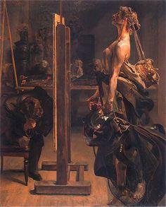 Mood of the artist, 1897, Jacek Malczewski. Polish (1854 - 1929)