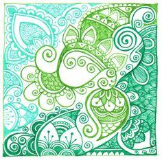 Swirls in green and blue by yael360 on deviantART