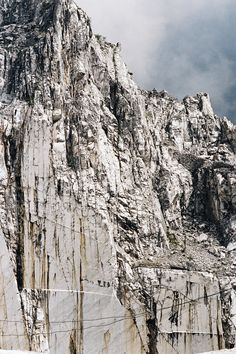 The marble quarries of Carrara Italy