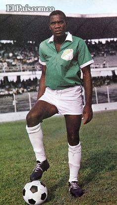 Jorge Ramirez of Deportivo Cali of Colombia in Jorge Ramirez, Football Images, The Past, Soccer, Collection, 1960s, Style, Fashion, Sports