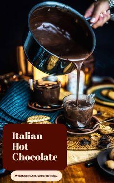 Chocolate Smoothie Recipes, Dark Chocolate Recipes, Cocoa Recipes, Fun Baking Recipes, Milk Recipes, Chocolate Flavors, Dessert Recipes, Italian Hot Chocolate Recipe, Chocolate Videos