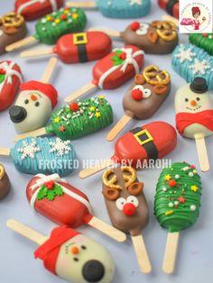 - The Next-Gen Social Network Christmas Cake Pops, Christmas Snacks, Xmas Food, Christmas Cooking, Christmas Goodies, Christmas Candy, Holiday Treats, Holiday Recipes, Merry Christmas