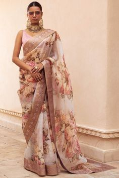 What does that beautiful Sabyasachi Saree Cost? I know I have which is why every time Sabyasachi launches a new collection, I start hunting for Sabyasachi Saree Cost in a frenzy. Trendy Sarees, Stylish Sarees, Indian Gowns, Indian Sarees, Indian Wear, Indian Blouse, Indian Style, Sabyasachi Sarees, Lehenga Choli