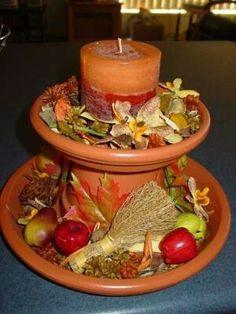 DIY job for planter pots. #candle holder