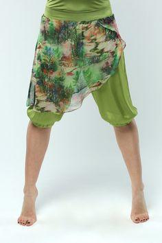 Silk and chiffon short pants