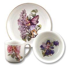 Reutter Porzellan (Germany)  —   Miniature Breakfast Set 'Flower Fairies' (700x525)
