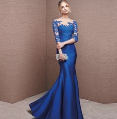 Cheap dress slipper, Buy Quality party dress with short sleeves directly from China party plus size dresses Suppliers: Dress Party Evening Elegant 2016 Custom Made Elegant Lace Royal Blue Mother Of The Bride Dresses Long Mermaid Evening D