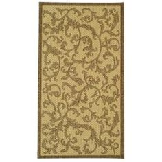 @Overstock.com - Poolside Natural/ Brown Indoor Outdoor Rug (2' x 3'7) - Perfect for any backyard, patio, deck or along the pool, this rug is great for outdoor use as well as any indoor use that requires an easy to maintain rug.  http://www.overstock.com/Home-Garden/Poolside-Natural-Brown-Indoor-Outdoor-Rug-2-x-37/6680080/product.html?CID=214117 $20.63