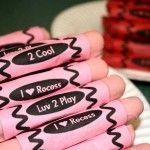 Valentine Edible Crayons