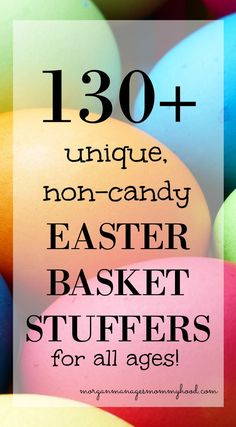 With Spring on it's way, that also means that Easter will so be here before we know it. Get a head start with thsi list of 130+ unique, non-candy Easter Basket Stuffers!