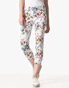 Pantalon motif fleurs