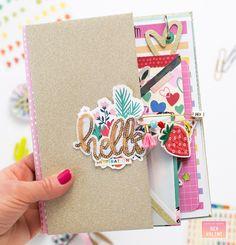 Bea Valint: Flipbook with Box of Crayons Scrapbook Journal, Mini Scrapbook Albums, Travel Scrapbook, Scrapbook Paper Crafts, Wedding Scrapbook, Scrapbooking Ideas, Snail Mail Flipbook, Mini Books, Flip Books