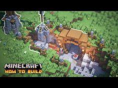 Casa Medieval Minecraft, Minecraft Farm, Minecraft Images, Mine Minecraft, Minecraft Castle, Cute Minecraft Houses, Minecraft Plans, Minecraft Survival, Minecraft Construction