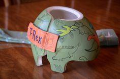 Dinosaur Band Cranial band/Helmet  https://www.facebook.com/Cranial-BandsMurals-by-Leigh-Gibson-153150921414230/