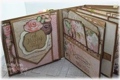 I am a crafting addict! Come and join me on my crafting journey Baby Girl Scrapbook, Mini Scrapbook Albums, Scrapbook Wedding Album, Diy Scrapbook, Scrapbooking Layouts, Mini Albums, Wedding Mini Album, Diy Mini Album, Mini Album Tutorial