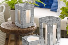 How to Make a Candleholder Out of Corner Bead Create rustic metal cases for your dripless or battery-powered candles