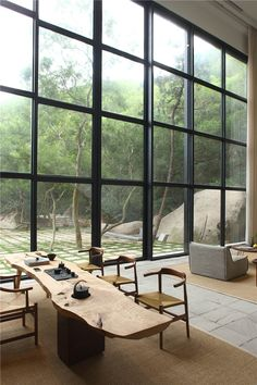 in china, FMX interior design has realized a peaceful, countryside retreat conceived to help relieve its inhabitants of their city-related stress. https://instagram.com/p/BLGYrV7B014/