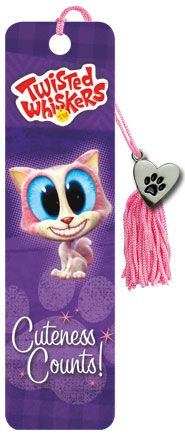 Twisted Whiskers - Cuteness Count - Collector's Beaded Bookmark