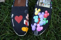 Mickey Theme Hand Painted TOMS Shoes by SomethingFromTheSun