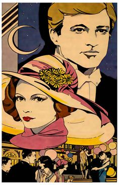 A nice Art Deco poster from The Great Gatsby! Robert Redford and Mia Farrow star in the 1974 film adaptation of F Scott Fitzgerald's epic novel of America's Gilded Age. Ships fast. 11x17 inches.