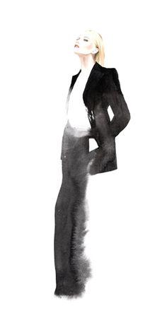 Stella McCartney F/W 2013 António Soares #illustration #ilustracion #fashion